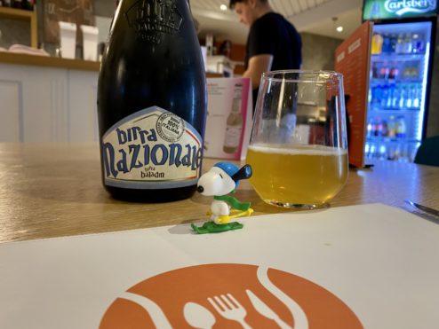 Artisanal Italian beer...