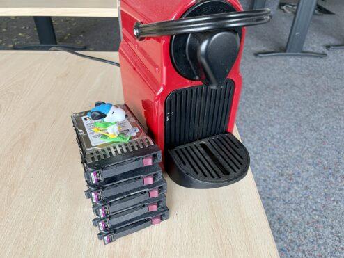 Nespresso on hard drives…
